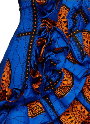 Detail View - Click To Enlarge - STELLA JEAN - 'Sfoglina' tribal print ruffle appliqué shorts