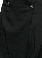 Foldover front drop crotch cropped pants