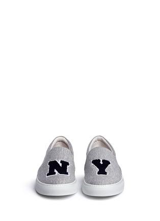 正面 -点击放大 - JOSHUA SANDERS - NY字母布贴厚底便鞋