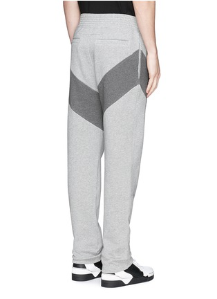 Back View - Click To Enlarge - Givenchy - Diagonal panel jogging pants