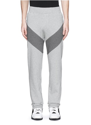 Main View - Click To Enlarge - Givenchy - Diagonal panel jogging pants