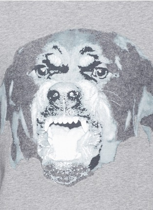 Detail View - Click To Enlarge - Givenchy - Rottweiler appliqué sweatshirt