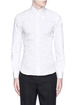 Main View - Click To Enlarge - Givenchy Beauty - Star embroidery cotton poplin shirt