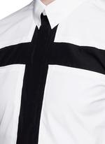 Contrast cross front shirt