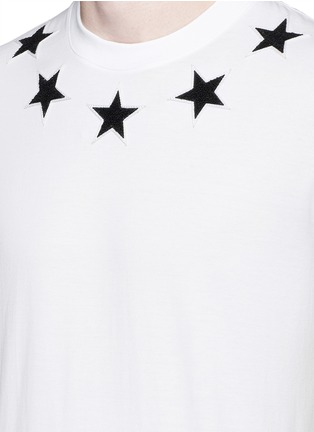 Detail View - Click To Enlarge - Givenchy - Star bouclé appliqué T-shirt