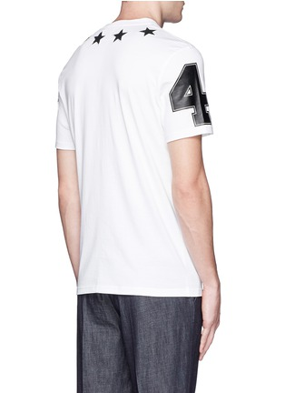 Back View - Click To Enlarge - Givenchy - Star bouclé appliqué T-shirt