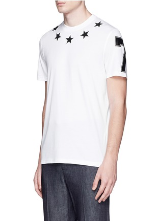 Front View - Click To Enlarge - Givenchy - Star bouclé appliqué T-shirt