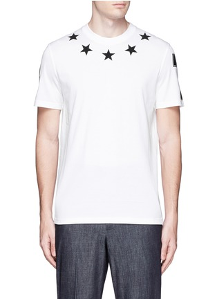 Main View - Click To Enlarge - Givenchy - Star bouclé appliqué T-shirt