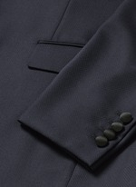 Satin Madonna collar wool jacquard tuxedo suit
