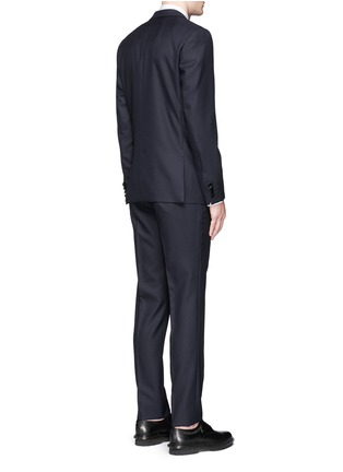 Back View - Click To Enlarge - Givenchy Beauty - Satin Madonna collar wool jacquard tuxedo suit