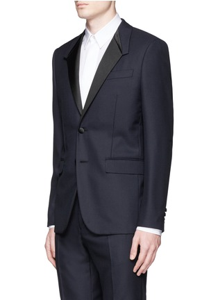 Front View - Click To Enlarge - Givenchy Beauty - Satin Madonna collar wool jacquard tuxedo suit