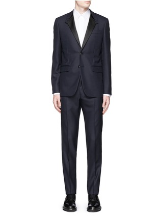 Main View - Click To Enlarge - Givenchy Beauty - Satin Madonna collar wool jacquard tuxedo suit