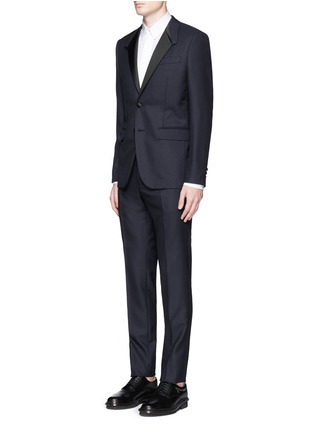 Figure View - Click To Enlarge - Givenchy Beauty - Satin Madonna collar wool jacquard tuxedo suit