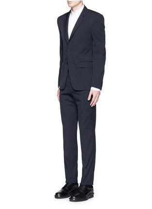 模特儿示范图 - 点击放大 - GIVENCHY - 单色混羊毛西服套装
