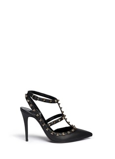 Valentino 'Rockstud Noir' caged leather pumps