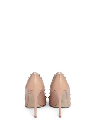 Back View - Click To Enlarge - Valentino - 'Rockstud' leather pumps