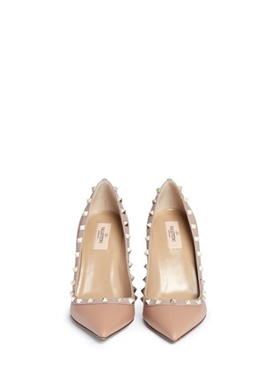 Front View - Click To Enlarge - Valentino - 'Rockstud' leather pumps