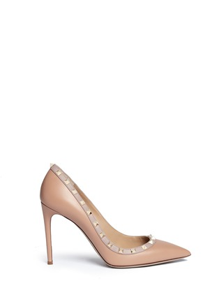 Main View - Click To Enlarge - Valentino - 'Rockstud' leather pumps