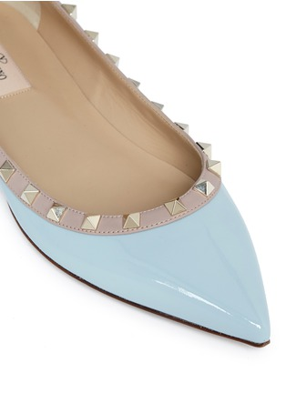 Valentino - 'Rockstud' patent leather skimmer flats