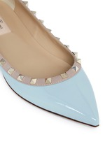 'Rockstud' patent leather skimmer flats