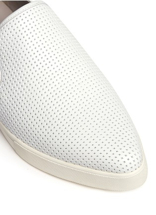 Detail View - Click To Enlarge - Vince - Pierce' perforated leather skate slip-ons