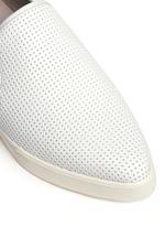 Pierce' perforated leather skate slip-ons