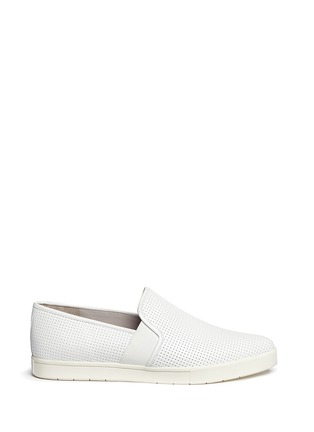 Main View - Click To Enlarge - Vince - Pierce' perforated leather skate slip-ons