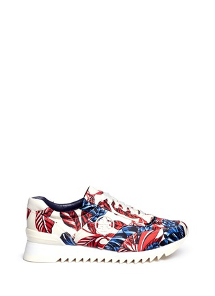 Main View - Click To Enlarge - Tory Burch - Floral print sateen sneakers