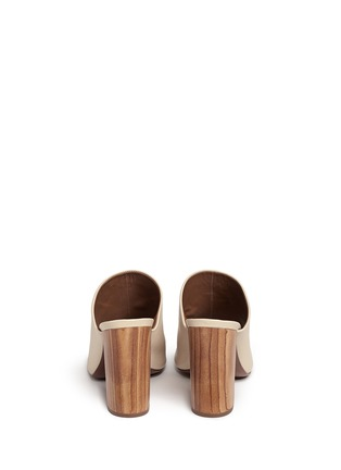 Back View - Click To Enlarge - Tory Burch - 'Raya' leather peep toe mules