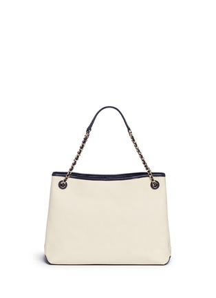 Back View - Click To Enlarge - Tory Burch - 'Thea' zip canvas chain tote