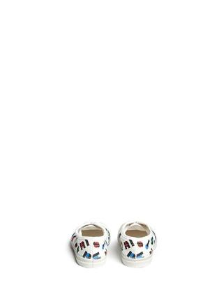 背面 - 点击放大 - BENSIMON - 中性款多彩字母印花帆布童鞋