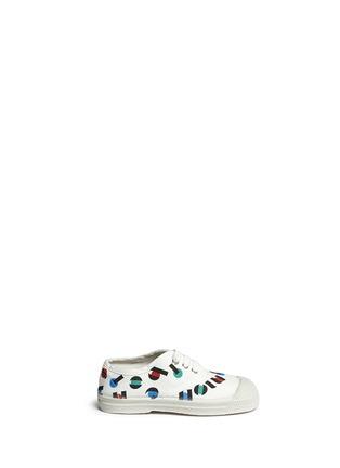 首图 - 点击放大 - BENSIMON - 中性款多彩字母印花帆布童鞋