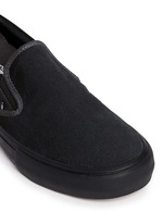 'Pro' suede canvas skate slip-ons