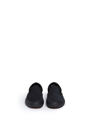 Front View - Click To Enlarge - Vans - 'Pro' suede canvas skate slip-ons
