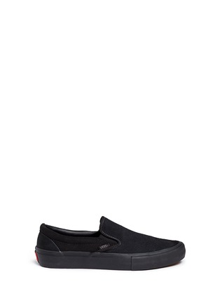 Main View - Click To Enlarge - Vans - 'Pro' suede canvas skate slip-ons
