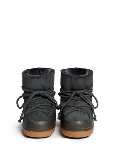 IKKII'Classic' leather sheepskin shearling moon boots