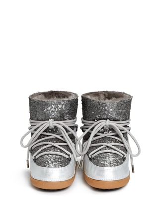 Figure View - Click To Enlarge - INUIKII - 'Punc Sequin' sheepskin shearling boots