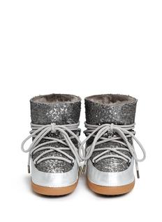 IKKII'Punc Sequin' sheepskin shearling moon boots