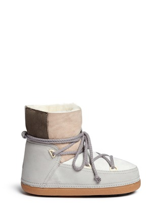 Main View - Click To Enlarge - INUIKII - ''Classic' patchwork sheepskin shearling boots