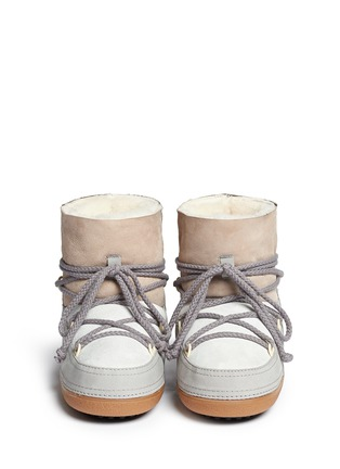 Figure View - Click To Enlarge - INUIKII - ''Classic' patchwork sheepskin shearling boots
