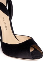 'Fatales' bow back satin peep toe pumps