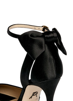 Detail View - Click To Enlarge - Paul Andrew - 'Fatales' bow back satin peep toe pumps