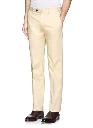 Front View - Click To Enlarge - Armani Collezioni - Flat front slim fit chinos