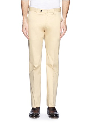 Main View - Click To Enlarge - Armani Collezioni - Flat front slim fit chinos