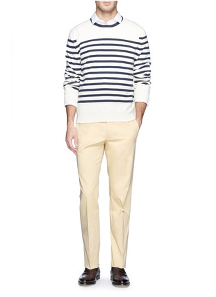 Figure View - Click To Enlarge - Armani Collezioni - Flat front slim fit chinos