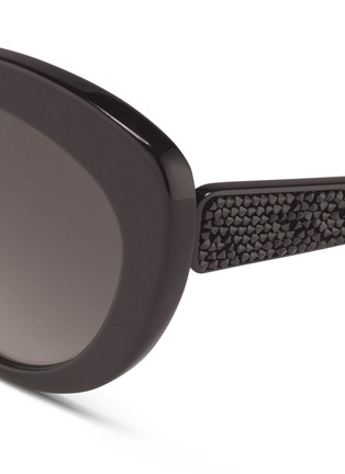 Detail View - Click To Enlarge - Oscar de la Renta - x Linda Farrow strass pavé temple cat eye sunglasses