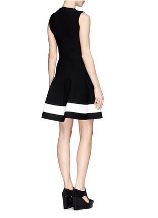 Back View - Click To Enlarge - Victoria Beckham - Single stripe interlock knit dress