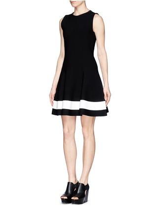 Front View - Click To Enlarge - Victoria Beckham - Single stripe interlock knit dress