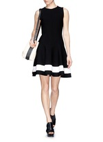 Single stripe interlock knit dress
