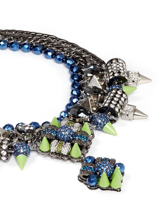 Detail View - Click To Enlarge - MOUNSER - Neon spike crystal curb chain necklace
